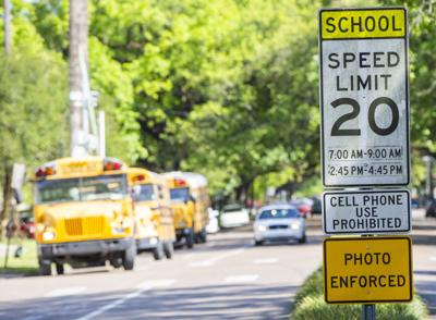 Traffic camera in school zone