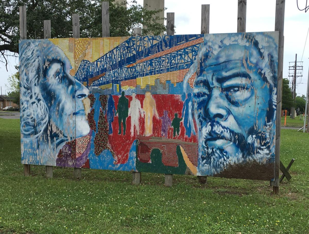 Malik Rahim mural on West Bank