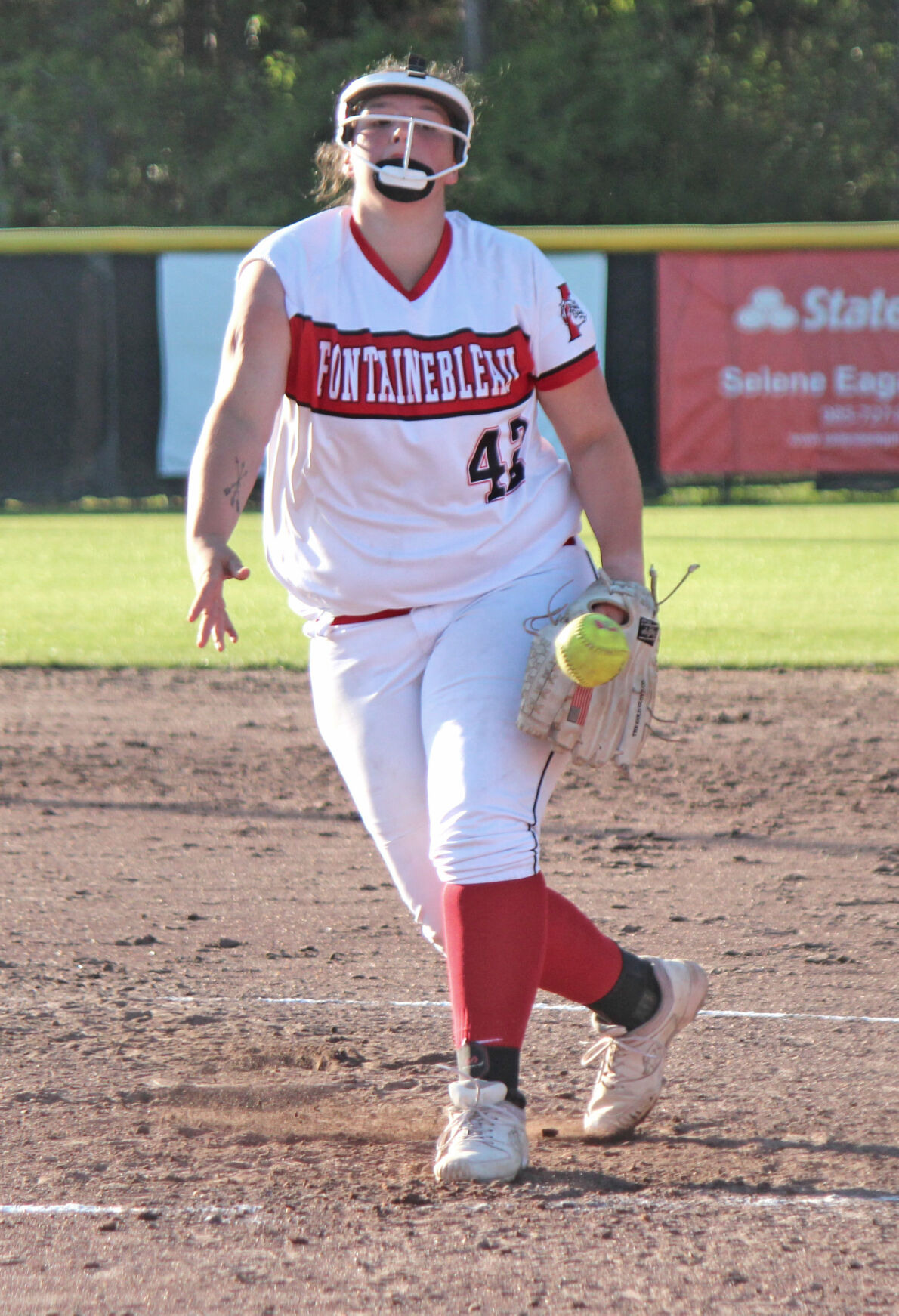 Fontainebleau's Abigail Boudreaux pitches abbreviated one-hitter