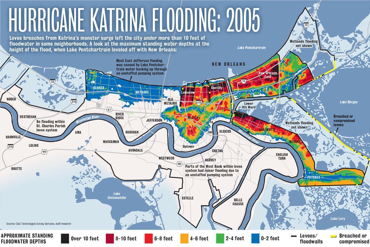 flood map new orleans Flood Katrina Map Jpg Nola Com flood map new orleans