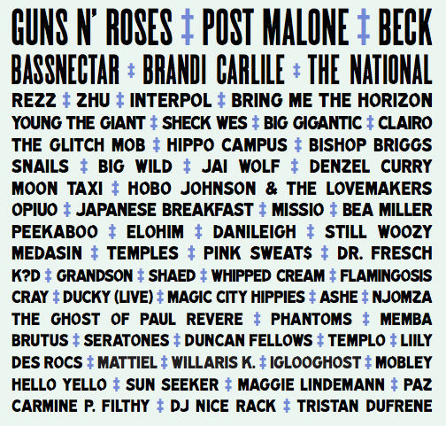 Voodoo Fest 2019 topped by Guns n' Roses, Post Malone, Beck