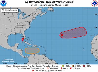 Tropics outlook 7am Monday