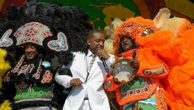 PHOTOS: Cloudy skies turn to colorful tunes, somber memories at opening day of New Orleans Jazz Fest 2016 _lowres (copy)