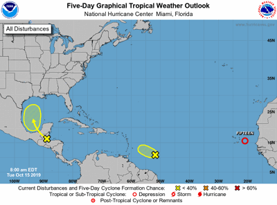Tropical weather update all 101519 7am