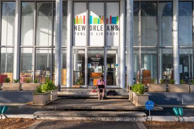 New Orleans library during pandemic