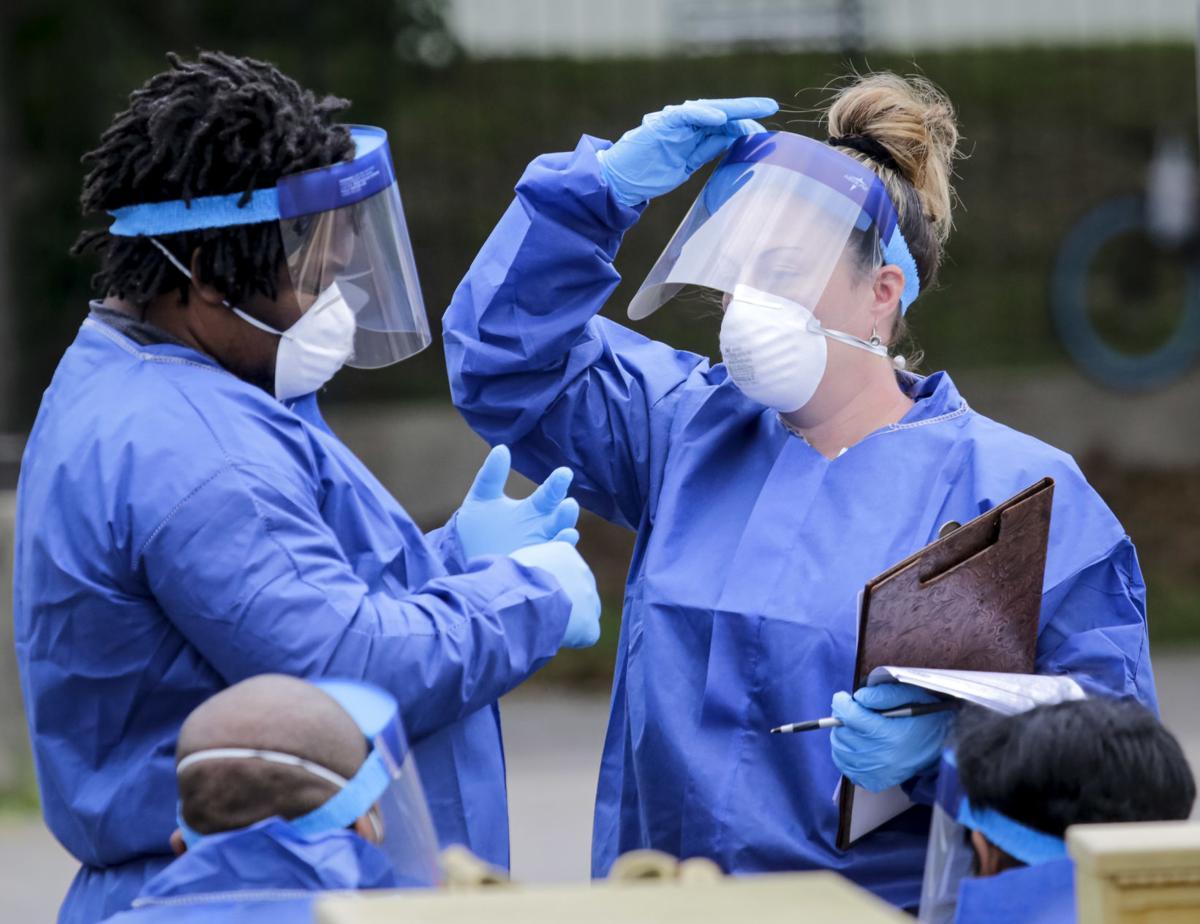 Coronavirus testing in New Orleans file photo stock