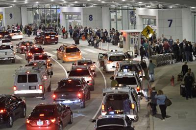 Louis Armstrong Airport arrivals file photo