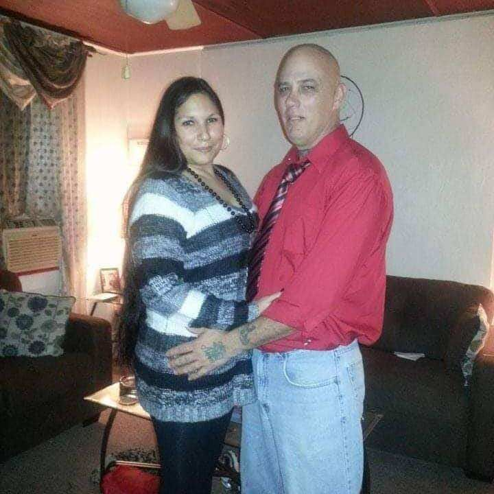Nova Espinoza (left) and her husband Anthony Magrette (right)