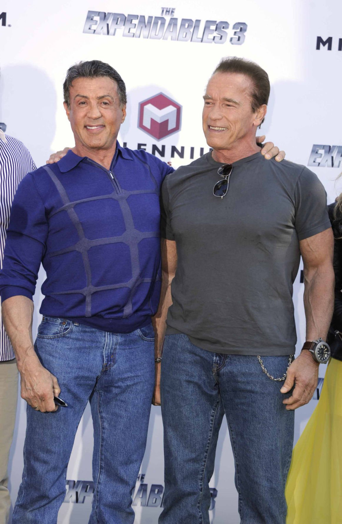 Sylvester Stallone and his 'Expendables 3' cast arrive in
