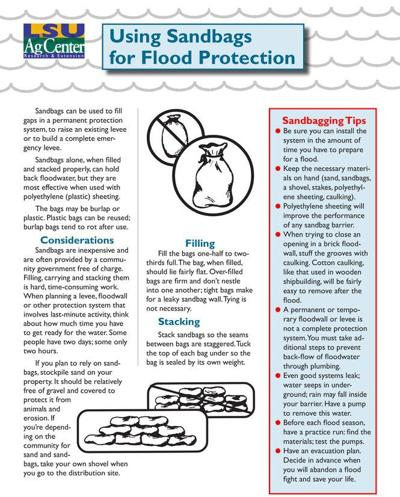 How to properly use sandbags for flood prevention: There's a wrong and right way