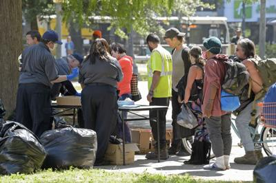 Duncan Plaza homeless