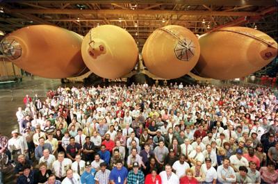 Celebrating Space Shuttle external tanks