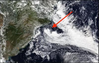 Subtropical Storm Potira forms near Brazil
