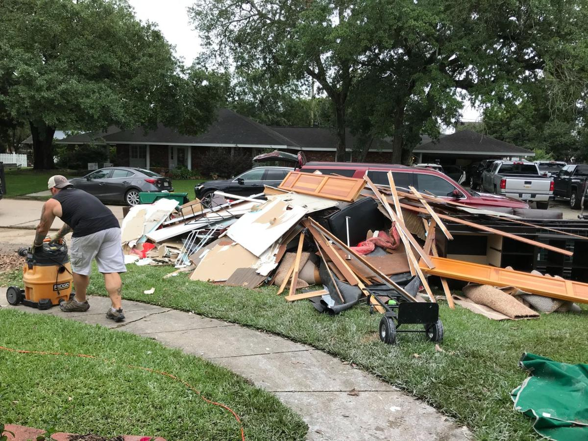 Flood clean up in St. Charles