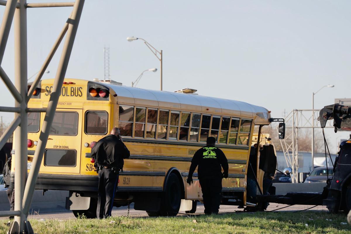 School bus crash on High Rise
