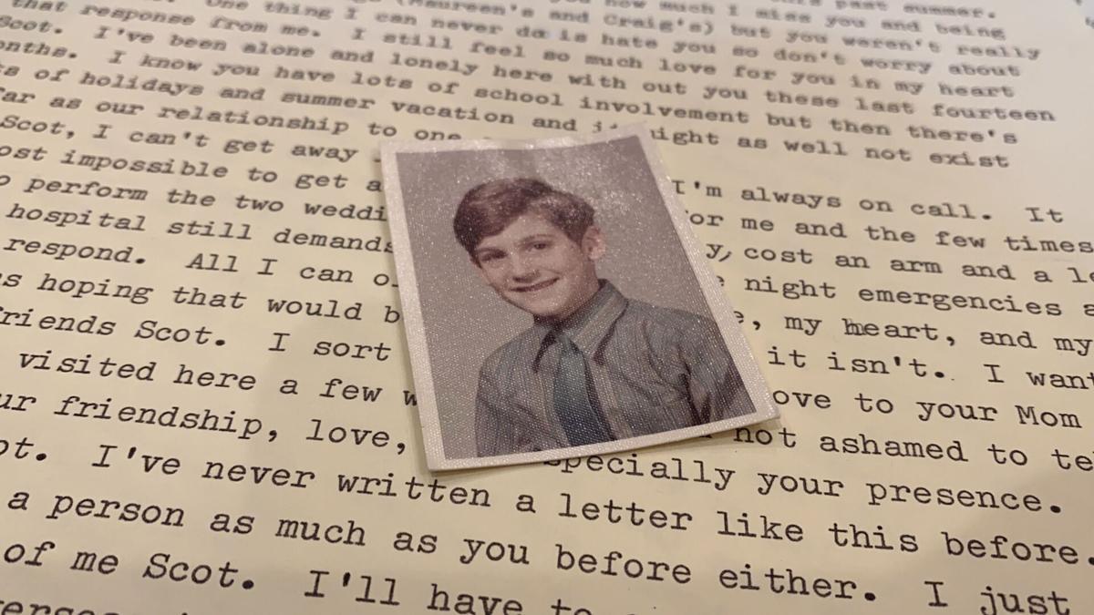 Scot Brandner over a letter
