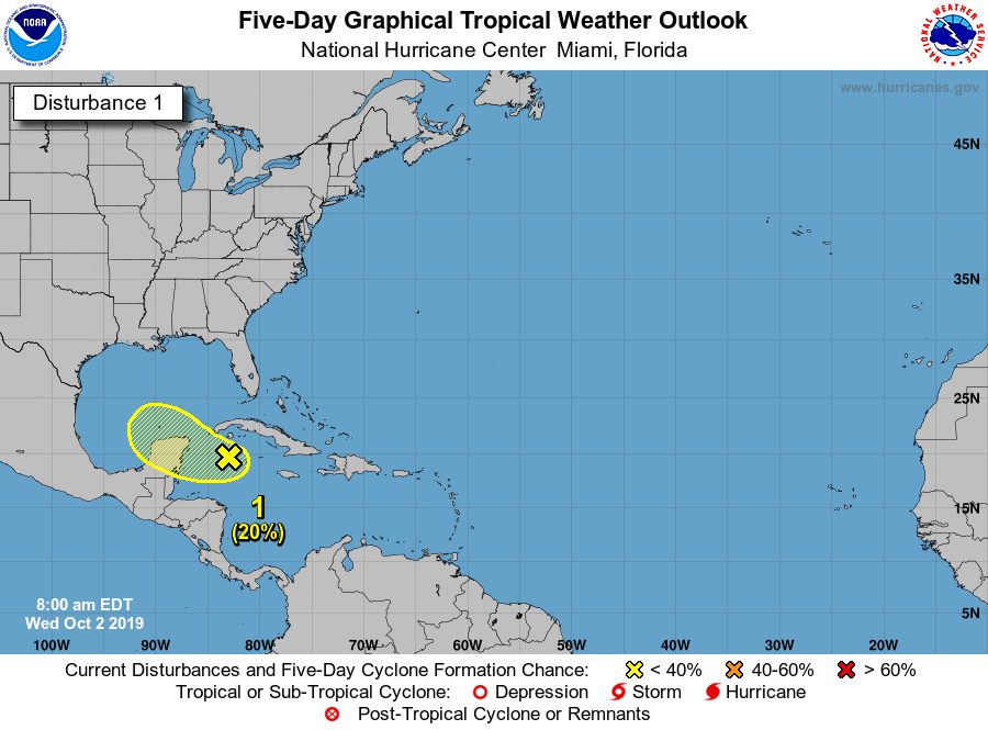 Tropical weather update gulf of mexico 100219 7am