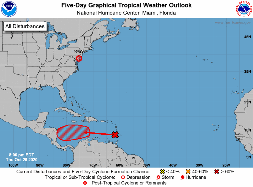Hurricane Center: Disturbance in Atlantic now has a high chance of becoming a tropical depression