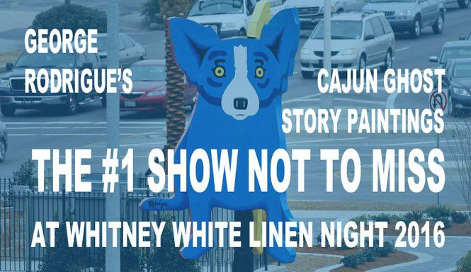 Rodrigue's Cajun ghost paintings at White Linen Night 2016