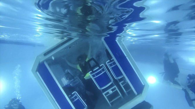 One of our reporters spent a day learning how to escape from a sinking helicopter: Watch the video