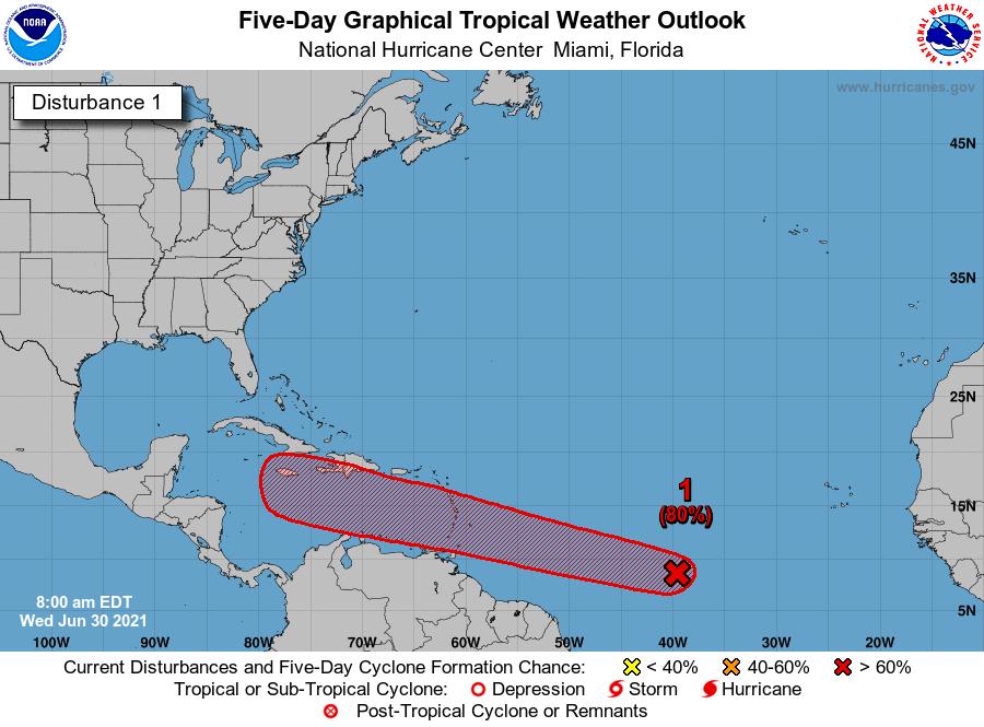 Atlantic system 1 7am June 30