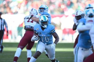 Tulane running back Darius Bradwell