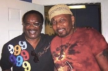 WWOZ DJ Jesse 'Midnight Creeper' Hathorne and his musical hero Aaron Neville