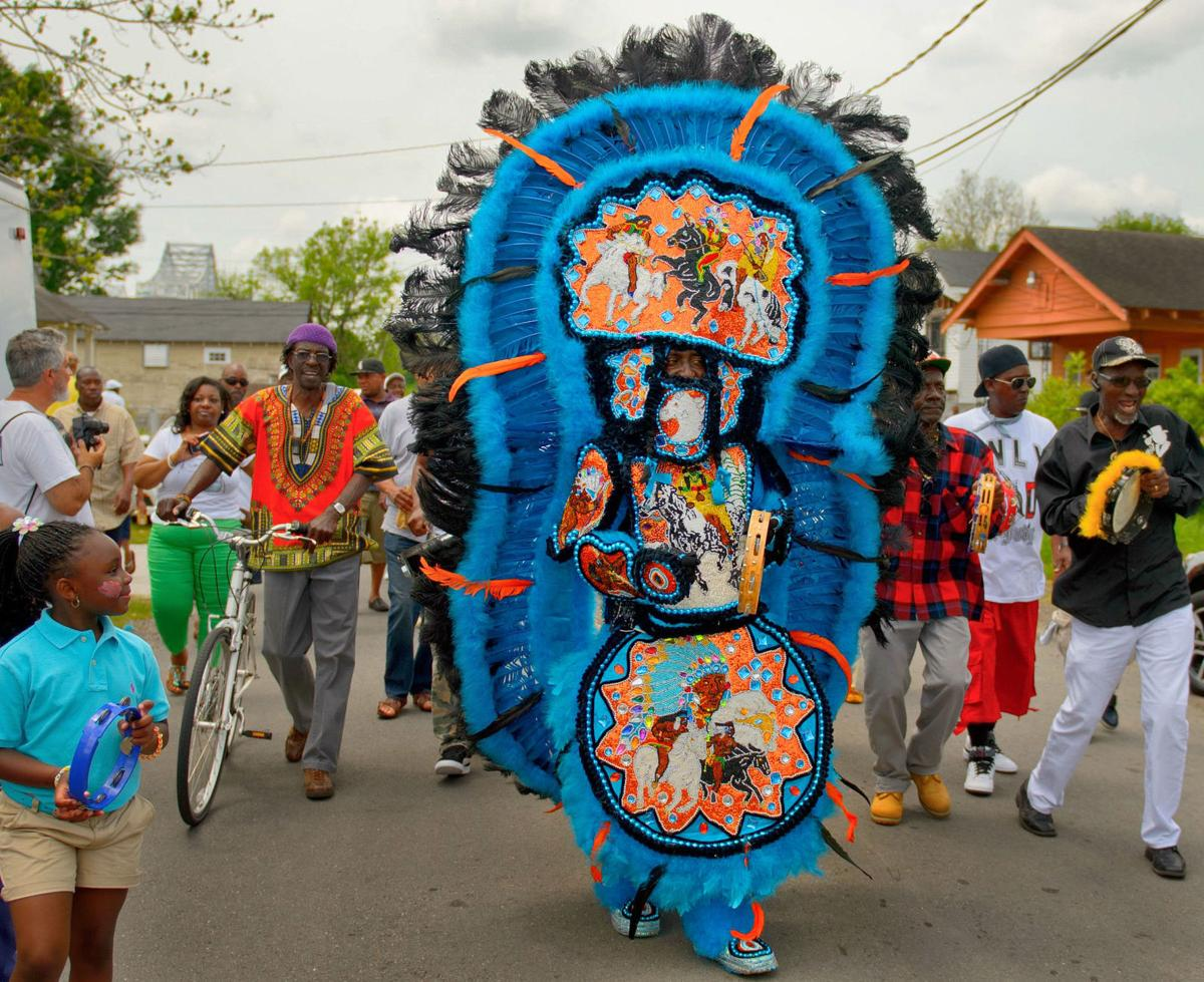 The Mohawk Hunters Mardi Gras Indians will be a highlight of the foot parade during the first Algiers Mardi Gras Festival on Feb. 1