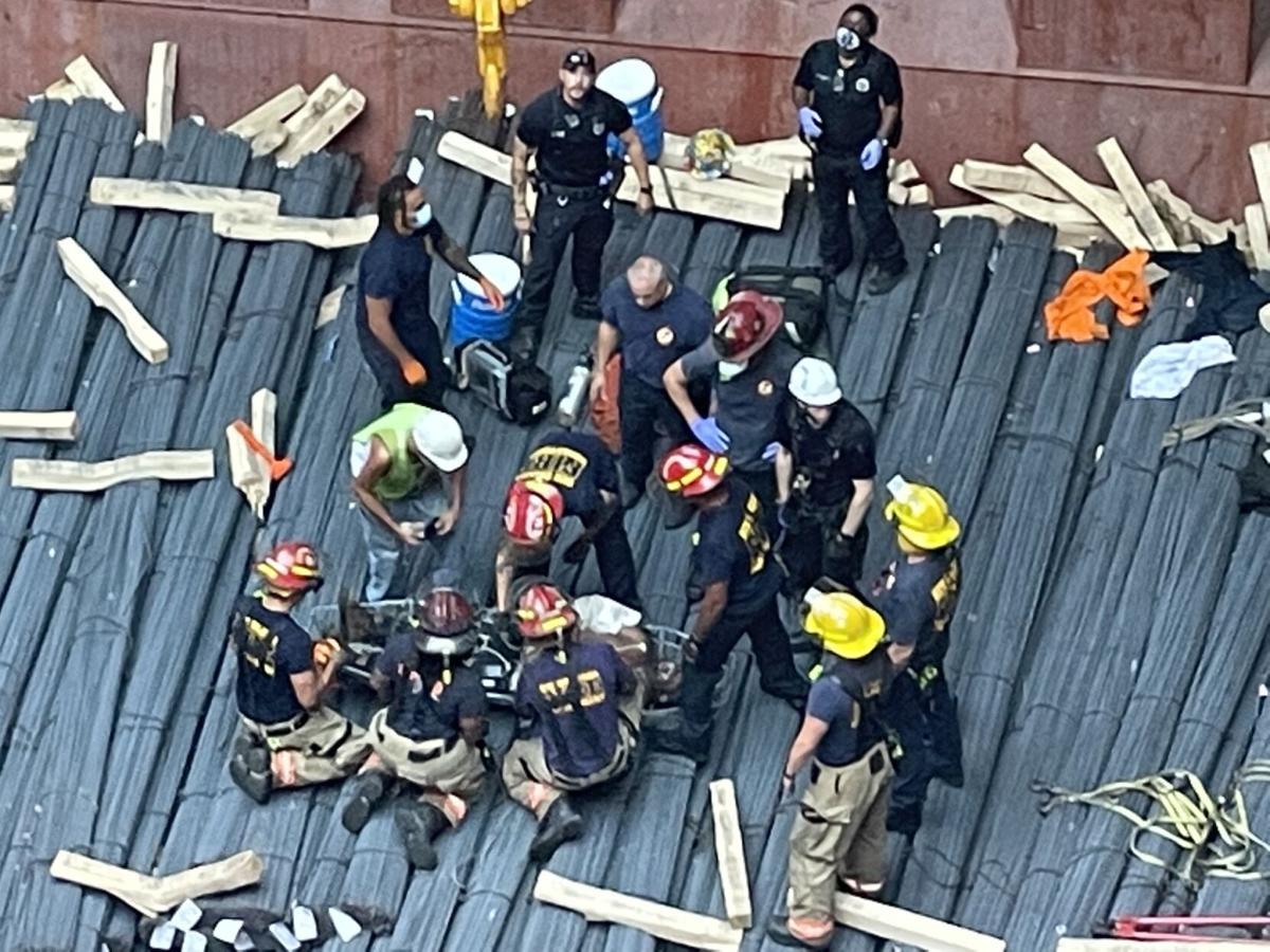 Cargo ship rescue