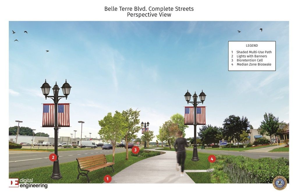 Belle Terre Streetscape