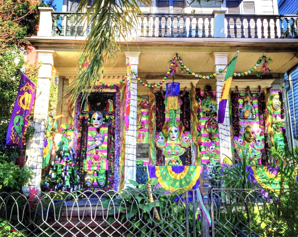 House with lavish Carnival decorations on Esplanade Avenue. Photo by David Mora.jpeg