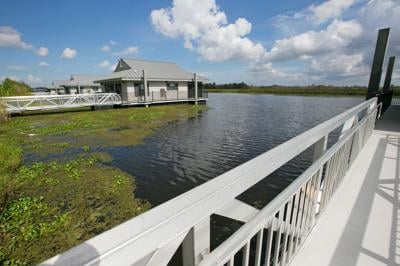 New floating cabins unveiled at Bayou Signette State Park