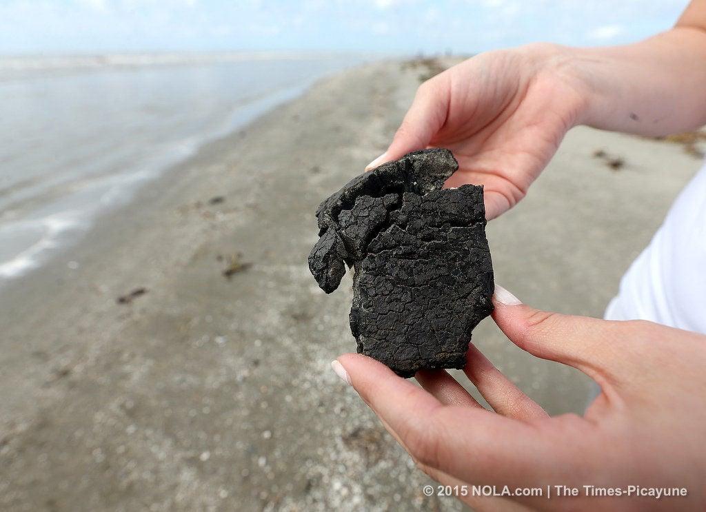 Tar ball found at East Grand Terre Island