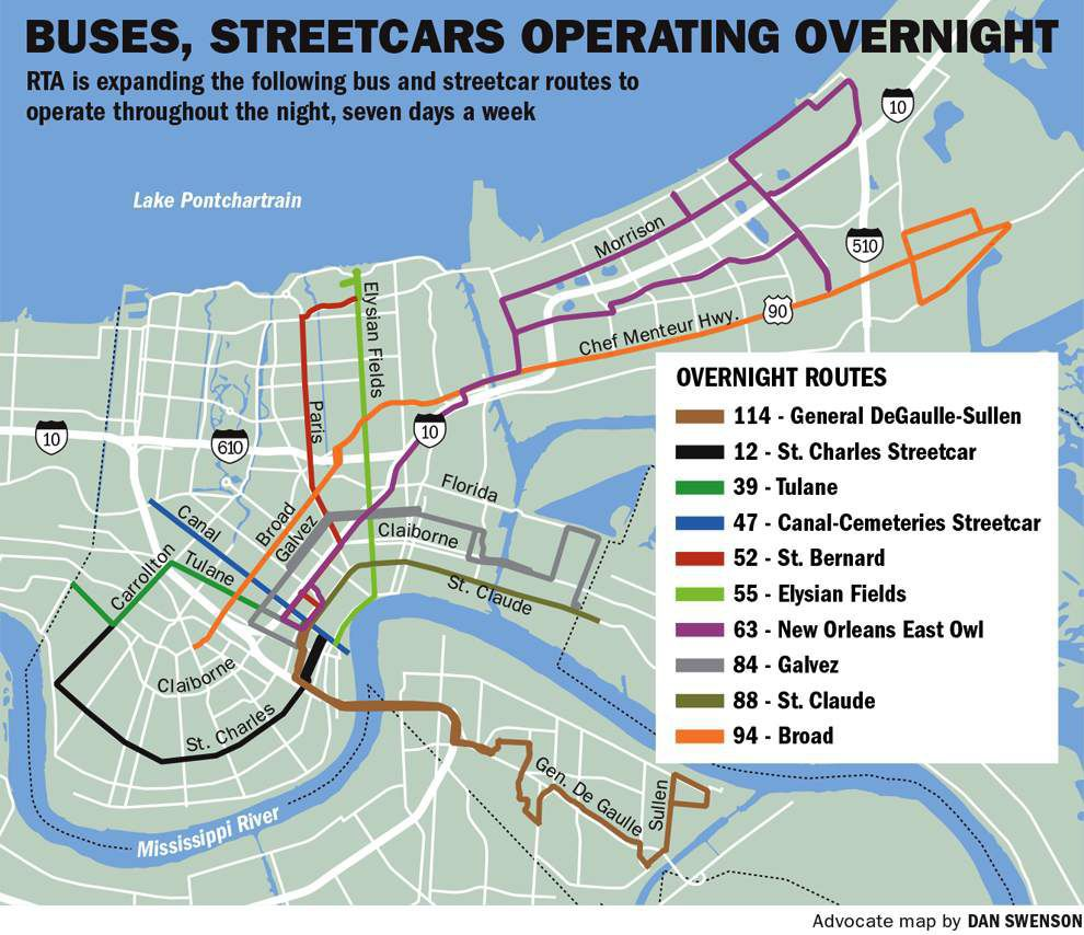 new orleans bus map Transit Service In New Orleans Gets Major Expansion Sunday Local new orleans bus map