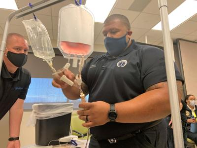 Blood transfusion demonstration