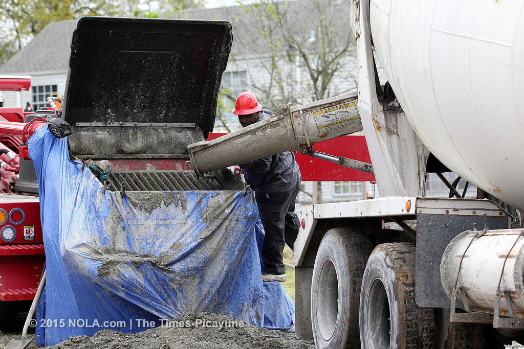 Concrete being poured at Planned Parenthood abortion clinic site