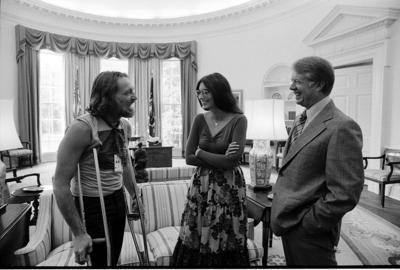 Willie Nelson at the White House with Jimmy Carter