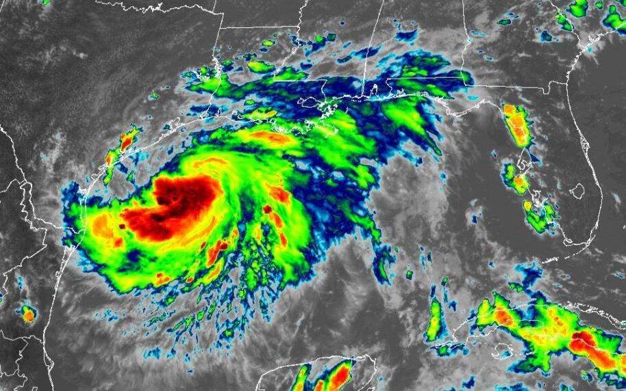 Tropical Storm Hanna on satellite 4 p.m.