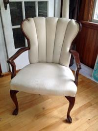 reuse old chairs upholstered