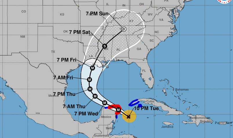 Delta as of 10 p.m. Tuesday