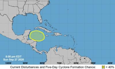 National Hurricane Center outlook, Sept. 27, 2020