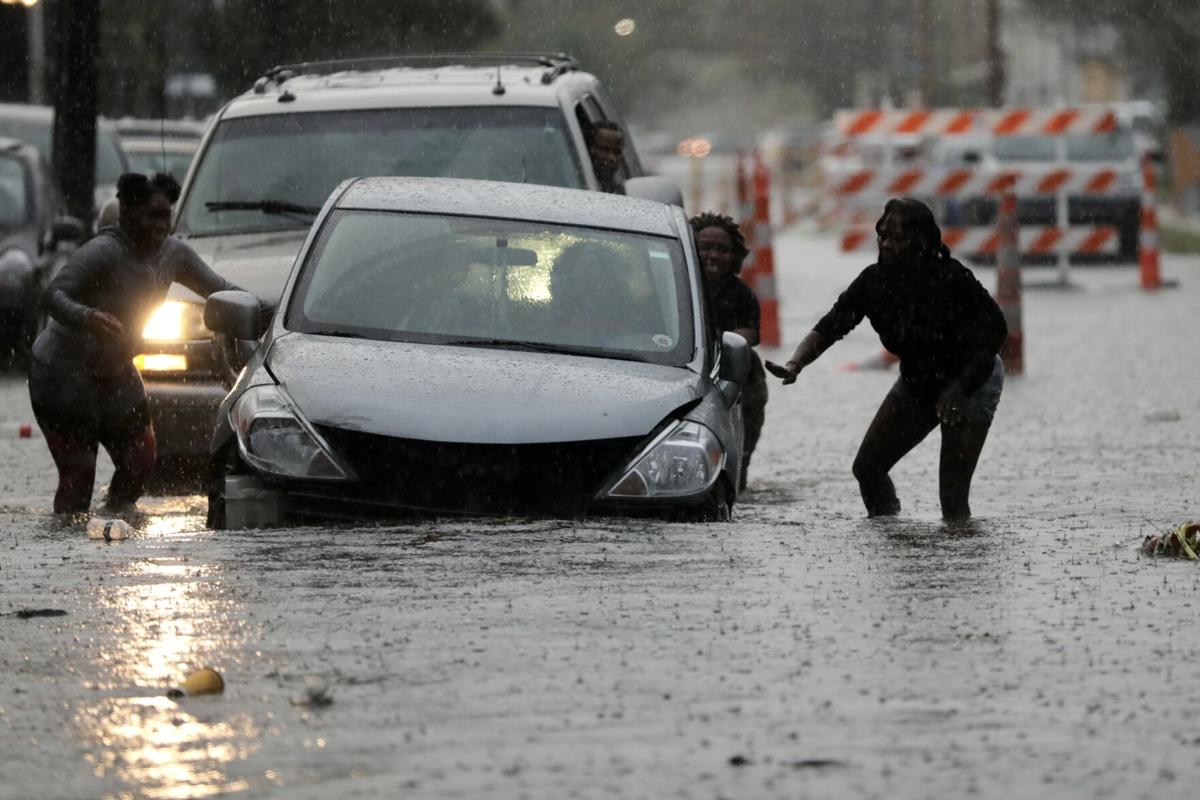 Heavy rains fell in Midcity and across the metro area on Wednesday, Nov. 25, 2020.