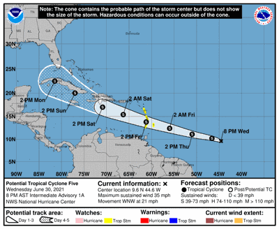 POTENTIAL TROPICAL CYCLONE FIVE