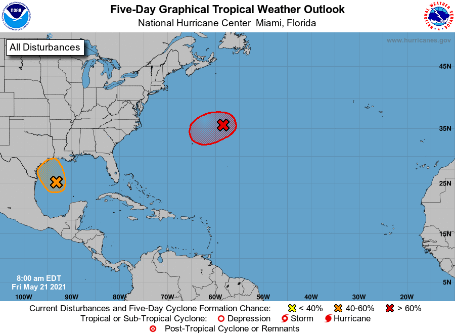 Tropical weather outlook 7am Friday