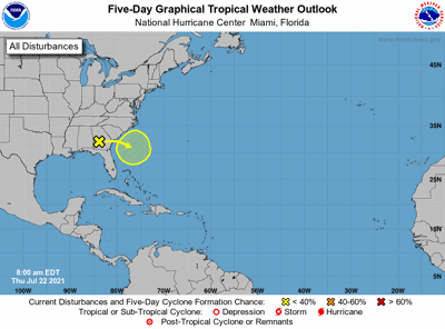 Tropical weather outlook 7am July 22
