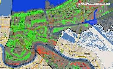 flood map new orleans New Maps Could Be Good News For Many New Orleans Area Flood flood map new orleans