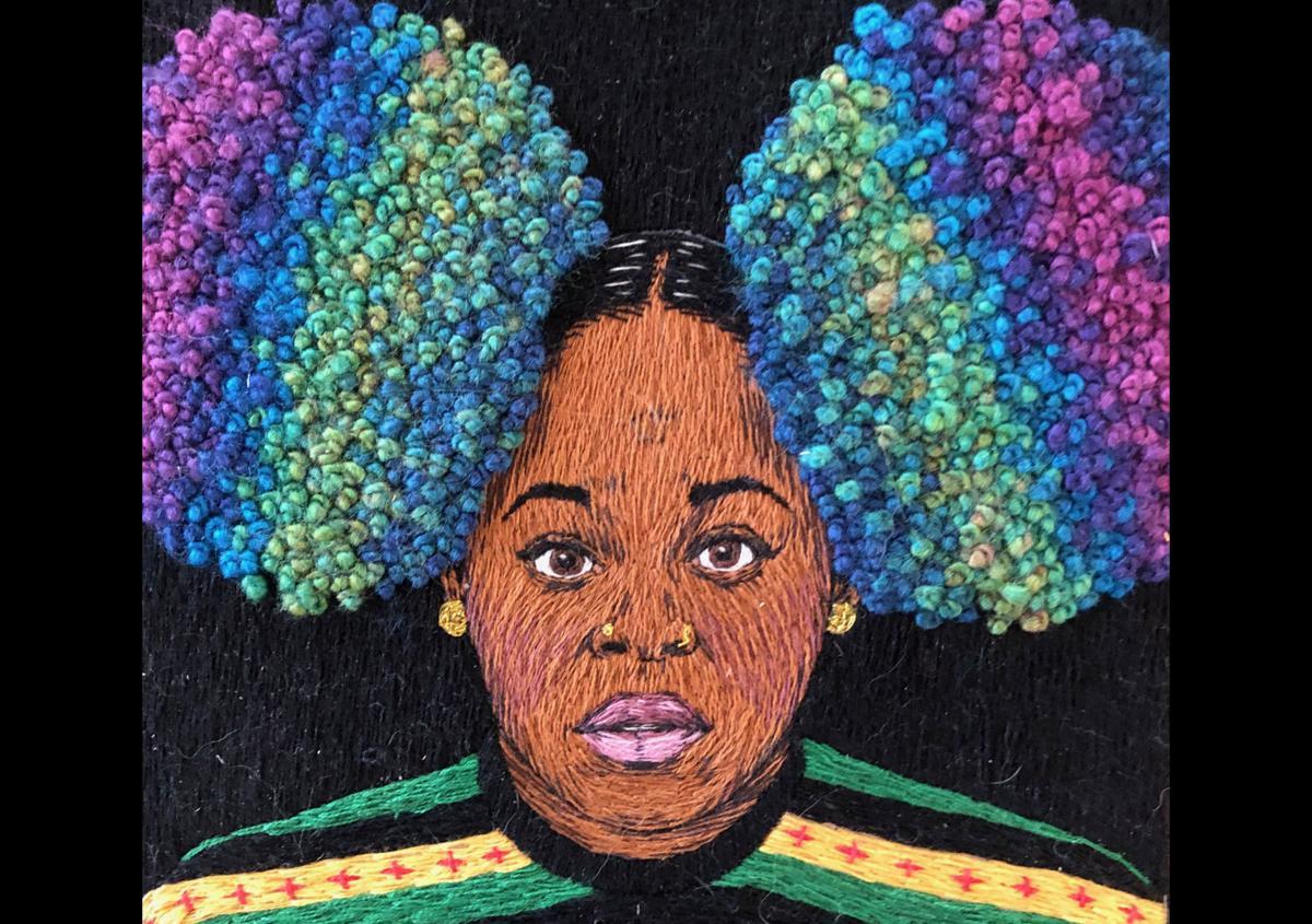 Lizzy Carlson's embroiderd portrait of singer Tarionna 'Tank' Ball.jpg