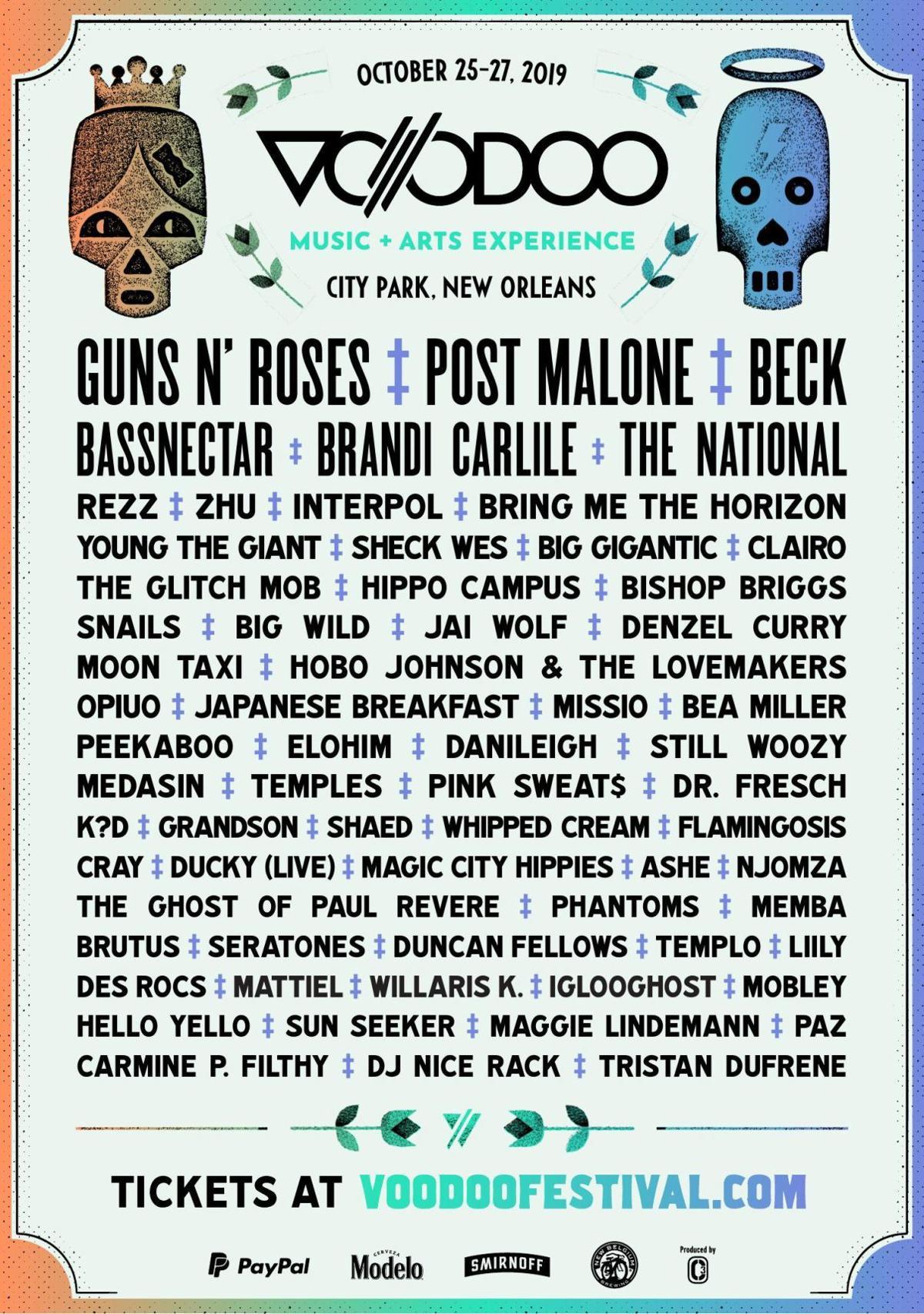 2019 voodoo fest lineup