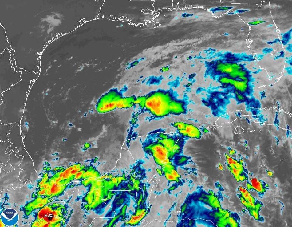Gulf disturbance satellite 7am June 16