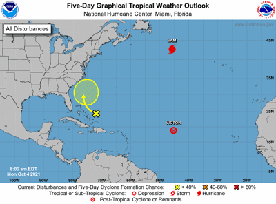 Tropical weather outlook 10am Oct 4